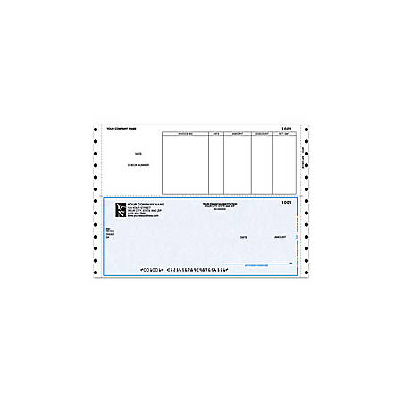 "Continuous Accounts Payable Checks For Sage Peachtree®, 9 1/2"" x 6 1/2"", 1 Part, Box Of 250"