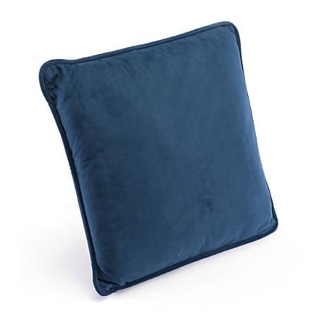Zuo Modern Velvet Pillow, Navy
