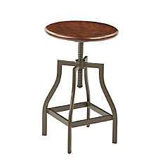 Ave Six Sullivan Swivel Stool WalnutPewter