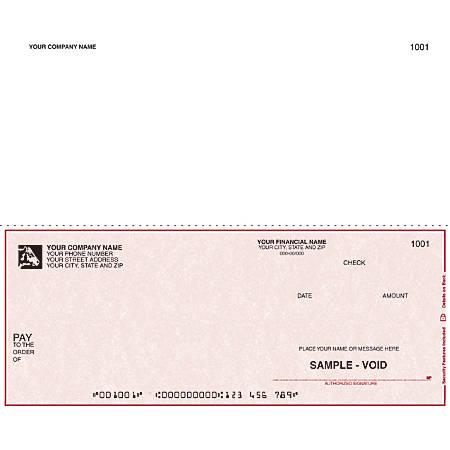 "Custom Continuous Multipurpose Voucher Checks For 9 1/2"" x 7"", 1 Part, Box Of 250"
