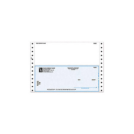 """Continuous Multipurpose Voucher Checks For Sage Peachtree®, 9 1/2"""" x 6 1/2"""", 2 Parts, Box Of 250"""