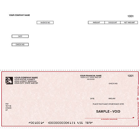 """Custom Continuous Accounts Payable Checks For DACEASY®, 9 1/2"""" x 7"""", 3 Parts, Box Of 250"""