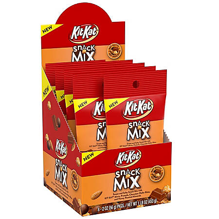 KIT KAT Snack Mix Tube, 2 oz, 8 Count