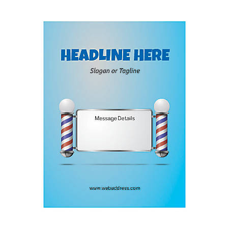 Custom Flyer, Vertical, Barber Shop