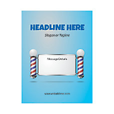 Custom Flyer Vertical Barber Shop