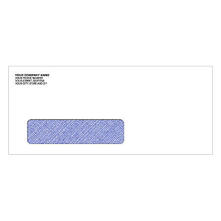 "Single Window Imprinted Envelopes, 4 1/8"" x 9 1/2"", Box Of 250"