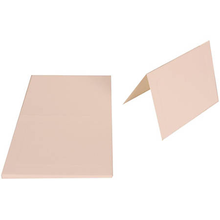 "JAM Paper® Fold-Over Cards, With Panel, A6, 4 5/8"" x 6 1/4"", Strathmore Bright White, Pack Of 25"