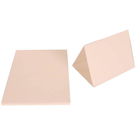 """JAM Paper® Strathmore Fold-Over Cards, 5"""" x 6 5/8"""", Bright White, Pack Of 25"""