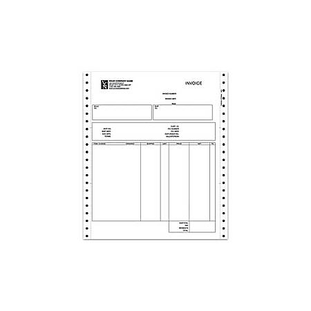 "Continuous Forms For Invoice, Sage Peachtree®, 9 1/2"" x 11"", 3 Parts, Box Of 250"
