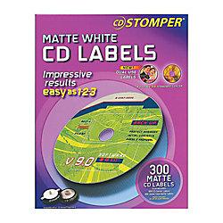 Cd stomper matte white inkjetlaser cd labels 98122 pack of 300 by cd stomper matte white inkjetlaser cd labels 98122 pack of 300 maxwellsz