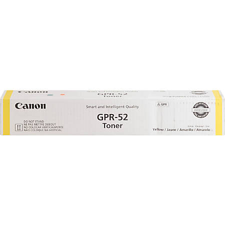 Canon GPR-52 Original Toner Cartridge - Yellow - Laser - 11500 Pages - 1 Each