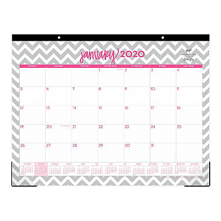 """Dabney Lee for Blue Sky Monthly Desk Pad, 22"""" x 17"""", Ollie, January To December 2020, 102137"""