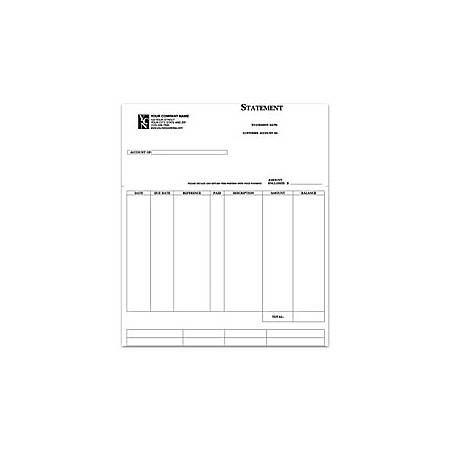 """Custom Laser Statement For Sage Peachtree®, 8 1/2"""" x 11"""", 1 Part, Box Of 250"""