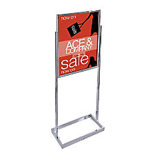 Azar Displays Metal Vertical Panel Poster
