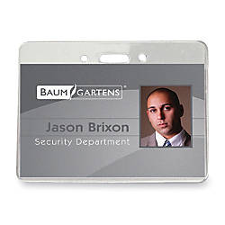 Baumgartens ID Badge Holder 4 x