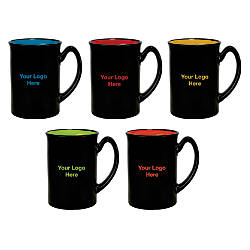 Bright Accented Color Mug 16 Oz