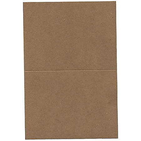 "JAM Paper® Fold-Over Cards, A6, 4 5/8"" x 6 1/4"", 100% Recycled, Brown, Pack Of 25"