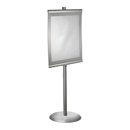 """Azar Displays Metal Vertical Poster Stand, 73""""H x 22""""W x 18""""D, Clear"""