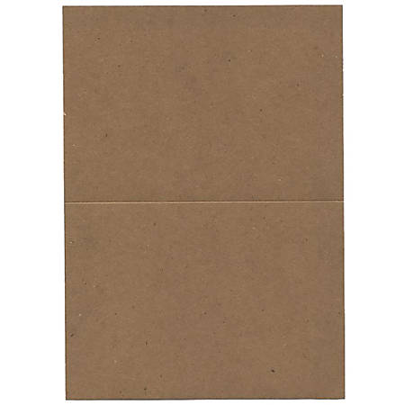 "JAM Paper® Fold-Over Cards, A7, 5"" x 6 5/8"", 100% Recycled, Brown Kraft, Pack Of 25"