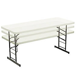 Realspace Adjustable Height Molded Plastic Top