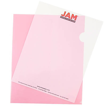 "JAM Paper® Plastic Sleeves, 9"" x 11 1/2"", 1"" Capacity, Red, Pack Of 12"