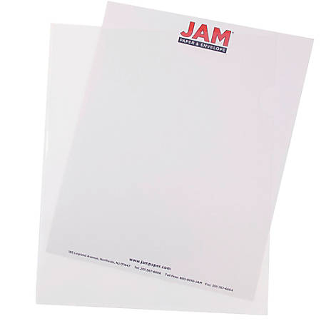"""JAM Paper® Plastic Sleeves, 9"""" x 11 1/2"""", 1"""" Capacity, Clear, Pack Of 12"""