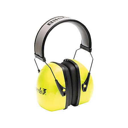 Howard Leight Hi-Visibility L3HV Headband Earmuffs - Recommended for: Industrial - High Visibility, Reflective Band, Comfortable, Padded Headband - Noise Protection - Foam Headband, Steel Headband, Metal, Polyvinyl Chloride (PVC), Textile, Acrylonitrile