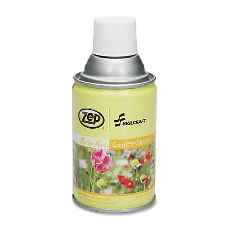 SKILCRAFT® Zep® Meter Mist Refill, 7 Oz., Country Garden, Pack Of 12