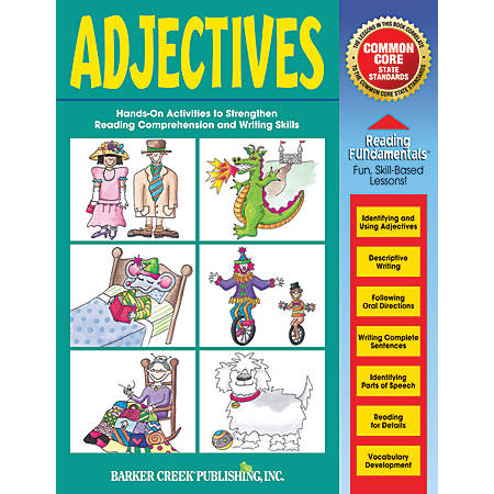 Barker Creek Grammar Activity Book, Adjectives, Grades 1 To College