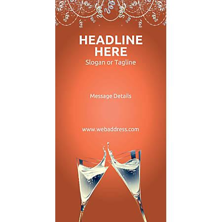 Custom Vertical Display Banner, Champagne Flutes