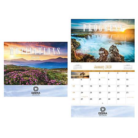 Motivations Wall Calendar, Stitched Binding
