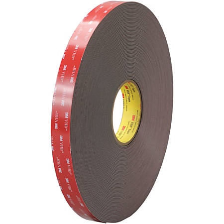 "3M™ VHB™ 4919F Tape, 1.5"" Core, 1"" x 5 Yd., Black"
