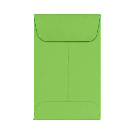 """LUX Coin Envelopes, #1, 2 1/4"""" x 3 1/2"""", Limelight, Pack Of 50"""