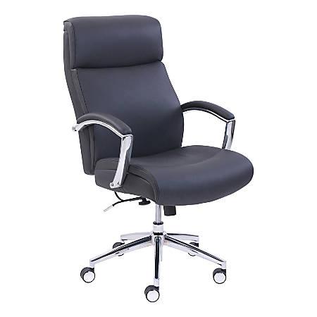 Lorell® Active Lumbar Chair, Black