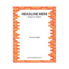 Custom Flyer Vertical Brick Wall