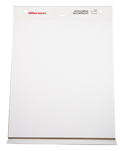 Office Depot Brand 30percent Recycled Restickable Easel Pad With Liner 20 X 23 White Sheets By Officemax