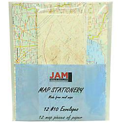 JAM Paper Map Stationery Set Set