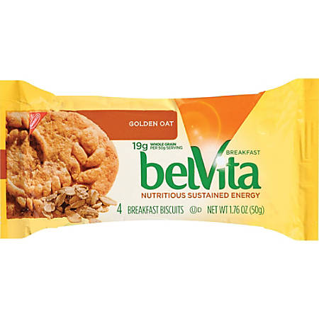 belVita Breakfast Biscuits - Individually Wrapped, No Artificial Flavor - Golden Oat - 1.76 oz - 8 / Box