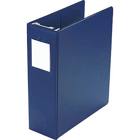 "Wilson Jones® Hanging Binder, 11"" x 8 1/2"", 3"" Rings, Blue"