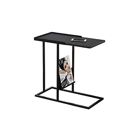 Monarch Specialties Magazine Accent Table, Rectangular, Black