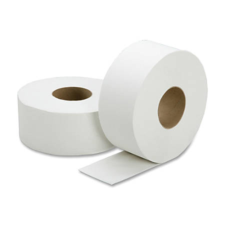 "SKILCRAFT® 100% Recycled Jumbo Roll Toilet Paper, 2-Ply, 3 7/10"" x 1000', White, Box Of 12 Rolls"