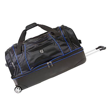 ful Workhorse Rolling Duffel Bag, Black/Blue