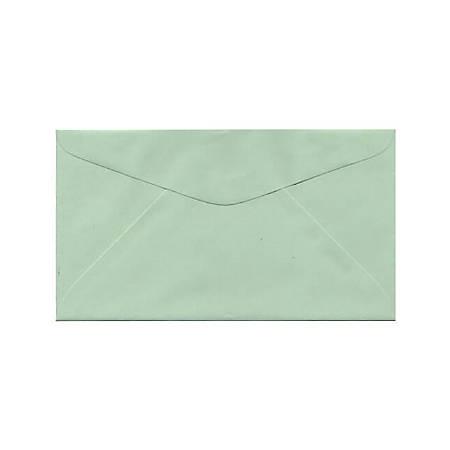 "JAM Paper® Booklet Envelopes With Gummed Closure, #6 3/4, 3 5/8"" x 6 1/2"", Light Green, Pack Of 25"