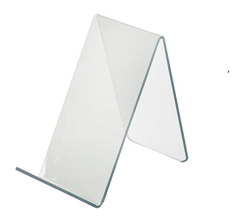 """Azar Displays Acrylic Easel Displays, 4-1/8""""H x 2-1/2""""W x 5""""D, Clear, Pack Of 10 Holders"""