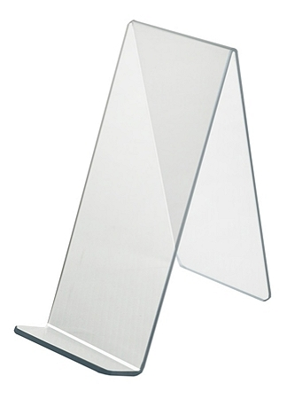 """Azar Displays Acrylic Easel Displays, 10-1/2""""H x 4-1/2""""W x 9-1/2""""D, Clear, Pack Of 10 Holders"""