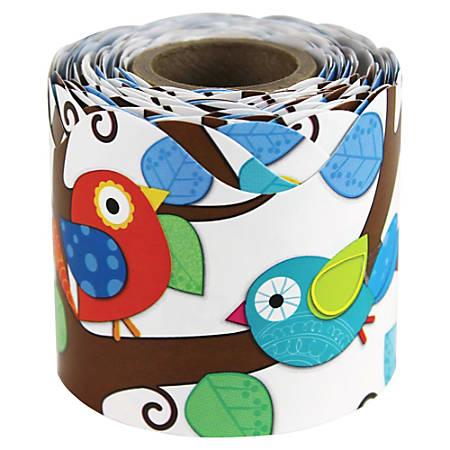 """Carson-Dellosa Boho Birds Scalloped Border - (Scalloped Border) Shape - Boho Birds - 2.25"""" Width x 432"""" Length - Multicolor - 1 Roll"""