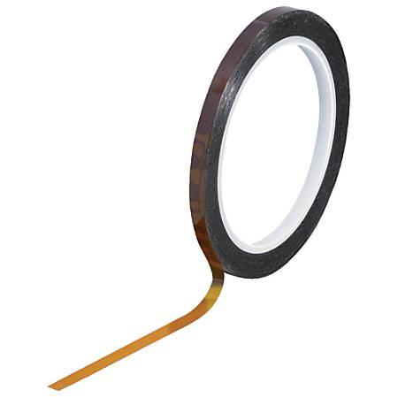 """Kapton® Sealing Tape, 3"""" Core, 0.25"""" x 108', 1 mil, Amber"""