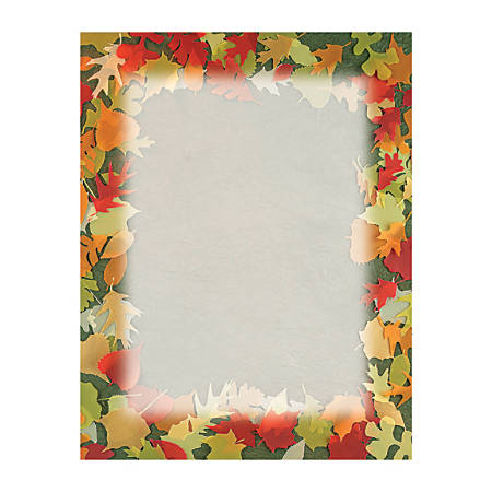"Great Papers!® Holiday-Themed Letterhead Paper, 8 1/2"" x 11"", Translucent Leaves, Pack Of 80 Sheets"