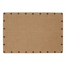 Linon Burke Medium Burlap Nailhead Corkboard