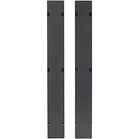 APC by Schneider Electric Hinged Covers for NetShelter SX 750mm Wide 45U Vertical Cable Manager (Qty 2) - Black - 2 Pack - 45U Rack Height